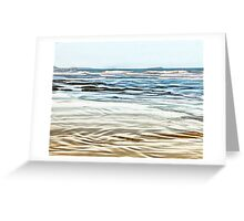 Abstract Waves on the beach in late afternoon Greeting Card
