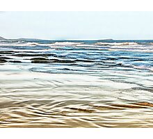 Abstract Waves on the beach in late afternoon Photographic Print