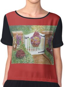 """WELCOME TO MY GARDEN"" Chiffon Top"