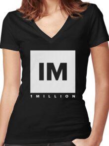 1 million dancer Women's Fitted V-Neck T-Shirt