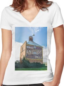 """ Chicory Kiln"" Colour Women's Fitted V-Neck T-Shirt"
