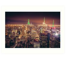 Manhattan Skyline at Dusk Art Print