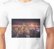 Manhattan Skyline at Dusk Unisex T-Shirt