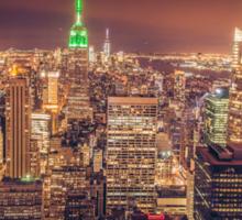 Manhattan Skyline at Dusk Sticker