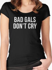 BAD GIRLS DONT CRY HALTER TOP CROP Women's Fitted Scoop T-Shirt