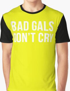 BAD GIRLS DONT CRY HALTER TOP CROP Graphic T-Shirt