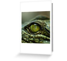 Eye of the Crocodile [Print & iPad Case] Greeting Card