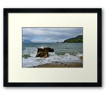 The Rock and The Ocean Framed Print