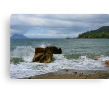 The Rock and The Ocean Canvas Print
