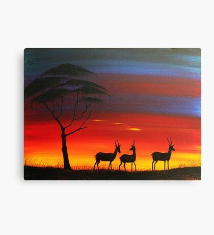 Antelope Masai Mara Canvas Print