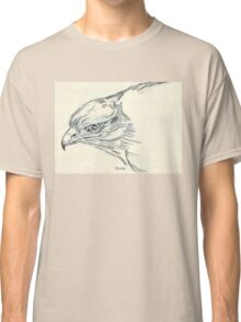 Black-shouldered Kite in Charcoal  Classic T-Shirt