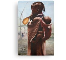 Turkana Girl With Baby Canvas Print