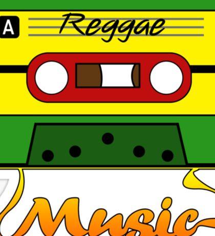 Reggae Tape Design Sticker