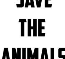 Save the Animals Sticker