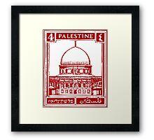 Palestine Stamp Framed Print