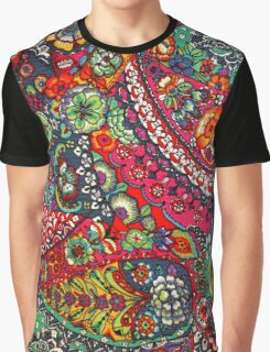 Psychedelic Paisley Pattern Graphic T-Shirt