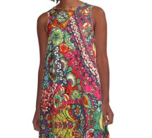 Psychedelic Paisley Pattern A-Line Dress
