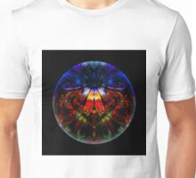 Man Under Flower Stands Before High Priestess While Glass Ball Encompasses All Unisex T-Shirt