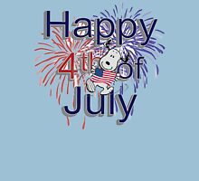 Snoopy With American Flag And Happy 4th Of July Unisex T-Shirt