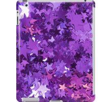 Purple Star Glitter iPad Case/Skin