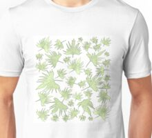 Canary Vine Leaves - Green Unisex T-Shirt