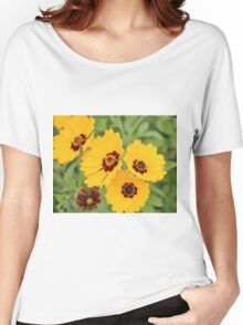 Yellow And Maroon Centers Women's Relaxed Fit T-Shirt