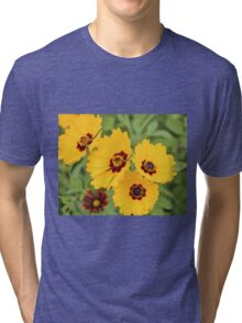 Yellow And Maroon Centers Tri-blend T-Shirt
