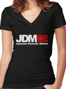 Japanese Domestic Market JDM (3) Women's Fitted V-Neck T-Shirt