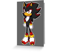 Mini Shadow The Hedgehog Greeting Card