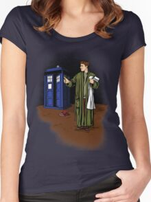 Hitchhiker in Time and Space Women's Fitted Scoop T-Shirt