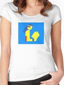 Wonder Lady Reads Women's Fitted Scoop T-Shirt