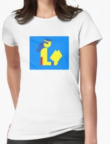 Wonder Lady Reads Womens Fitted T-Shirt