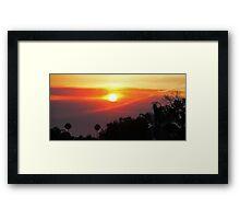Smoky SoCal Sunset Framed Print
