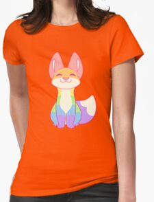 Gay Pride Fox Womens Fitted T-Shirt