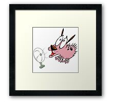 blow courage dog Framed Print