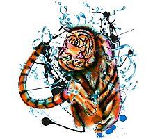 Dancing Tiger Photographic Print