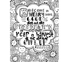 JTE Doodle Art God's Promises Series No. 6 Photographic Print