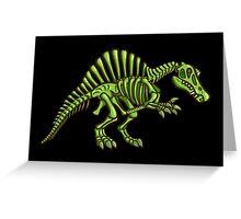 Neon Spinosaurus Skeleton Greeting Card