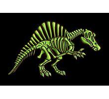 Neon Spinosaurus Skeleton Photographic Print