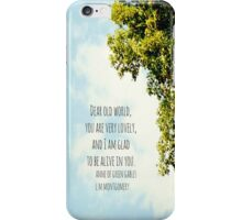 World Lovely Anne Shirley iPhone Case/Skin