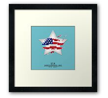 Star USA Independence Day 4TH July Framed Print