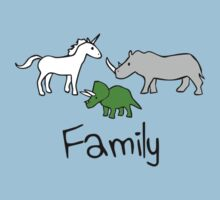 Family - Unicorn, Rhino, Triceratops by jezkemp