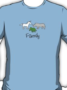 Family - Unicorn, Rhino, Triceratops T-Shirt