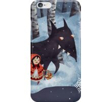 Little Red Riding Hood and the Wolf iPhone Case/Skin