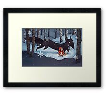 Little Red Riding Hood and the Wolf Framed Print