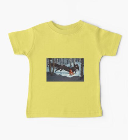 Little Red Riding Hood and the Wolf Baby Tee