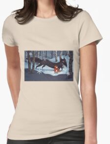 Little Red Riding Hood and the Wolf Womens Fitted T-Shirt