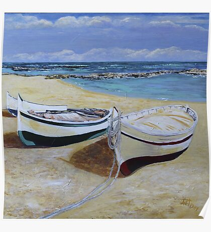Fishing Boats at Rest Poster