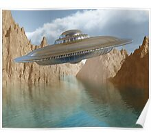 Flying saucer Poster