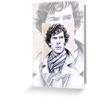 Benedict Cumberbatch miniature BC1 Greeting Card